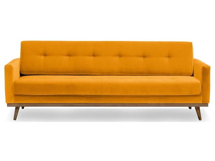 Sofa Klematisar 3-osobowa Welurowa z funkcją spania  (Deluxe - welur łatwozmywalny PEACOCK :deluxe/PEACOCK) Stała konstrukcja Kolor Zielony Głębokość 91 cm Kategoria Sofy i kanapy