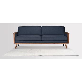 Sofa Orkidé 3-osobowa z funkcją spania (Bawełna 63%, len 37%  ANTRACYT :len bawełna/antracyt)