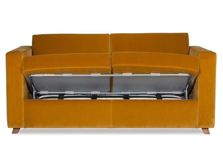 Sofa Narcisser 2-osobowa Welurowa z funkcją spania (Welur bawełna 100% CIEMNOZIELONY :welur/CIEMNOZIELONY) Stała konstrukcja Typ Gładkie Styl Klasyczny