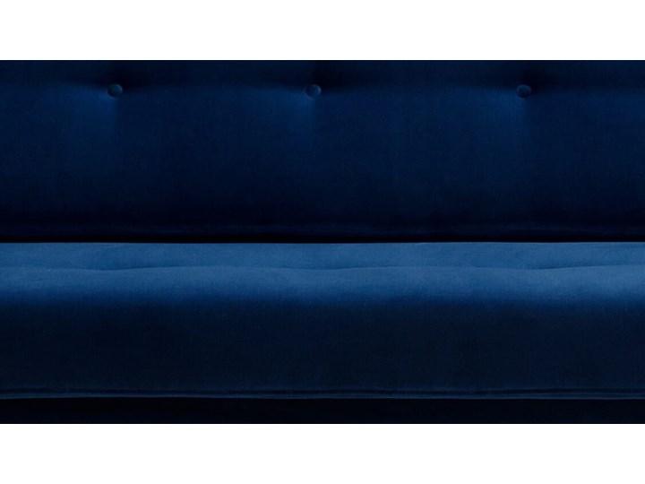 Sofa Klematisar 3-osobowa Welurowa z funkcją spania  (Deluxe - welur łatwozmywalny PEACOCK :deluxe/PEACOCK) Stała konstrukcja Typ Gładkie Głębokość 91 cm Wielkość Trzyosobowa