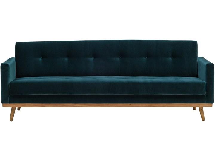 Sofa Klematisar 3-osobowa Welurowa z funkcją spania  (Deluxe - welur łatwozmywalny PEACOCK :deluxe/PEACOCK) Stała konstrukcja Kategoria Sofy i kanapy Głębokość 91 cm Materiał obicia Tkanina