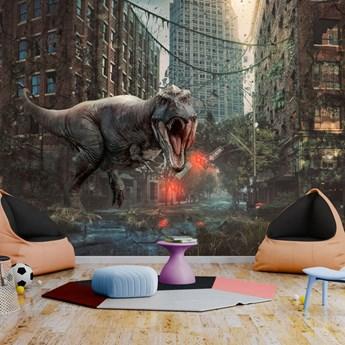 Fototapeta samoprzylepna - Dinozaur w mieście