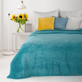 Narzuta na łóżko EUROFIRANY turkusowa 170x210