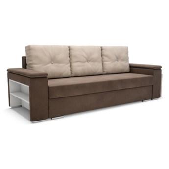 Sofa ROCCA 3-osobowa, rozkładana   beże brązy    Salony Agata