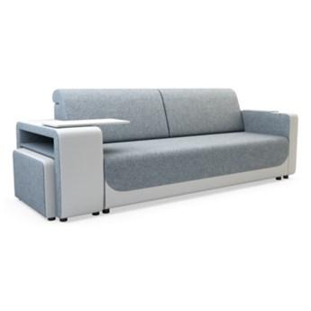 Sofa LUNA 3-osobowa, rozkładana   zielenie błękity    Salony Agata