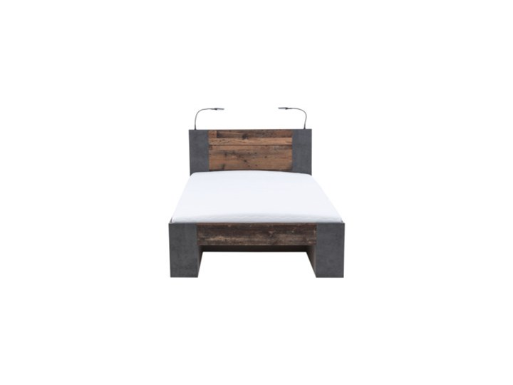 Salony Agata  Łóżko CLIF CLFL1141- C546 140x200 cm      140x200 Drewno Łóżko drewniane Kategoria Łóżka do sypialni