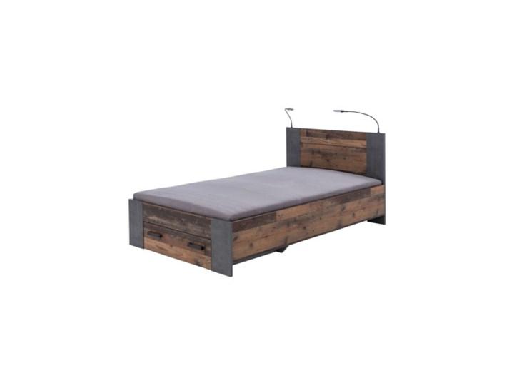 Salony Agata  Łóżko CLIF CLFL1141- C546 140x200 cm      140x200 Kategoria Łóżka do sypialni Drewno Łóżko drewniane Kolor Brązowy