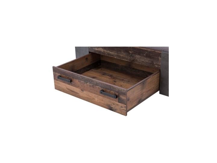 Salony Agata  Łóżko CLIF CLFL1141- C546 140x200 cm      140x200 Drewno Łóżko drewniane Kolor Brązowy