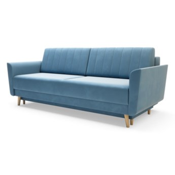 Sofa AMBER 3-osobowa, rozkładana   zielenie błękity    Salony Agata