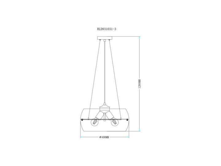 Salony Agata  Lampa wisząca MERANO RLD931031-3 Lampa z kloszem Chrom Metal Szkło Kategoria Lampy wiszące