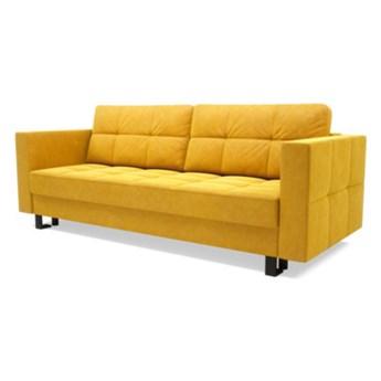 Sofa ONYX 3-osobowa, rozkładana   żółcie pomarańcze    Salony Agata