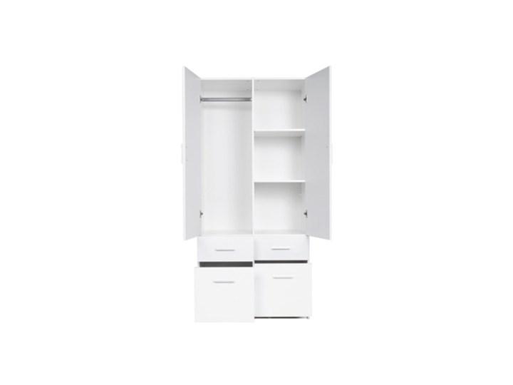 Salony Agata  Szafa ALPIN 2D4S TYP 03 Płyta MDF Tworzywo sztuczne Kolor Biały