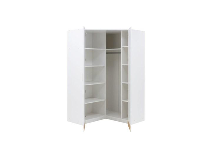 Salony Agata  Szafa narożna ALPIN 2D TYP 06 Kolor Biały Kategoria Szafy do garderoby