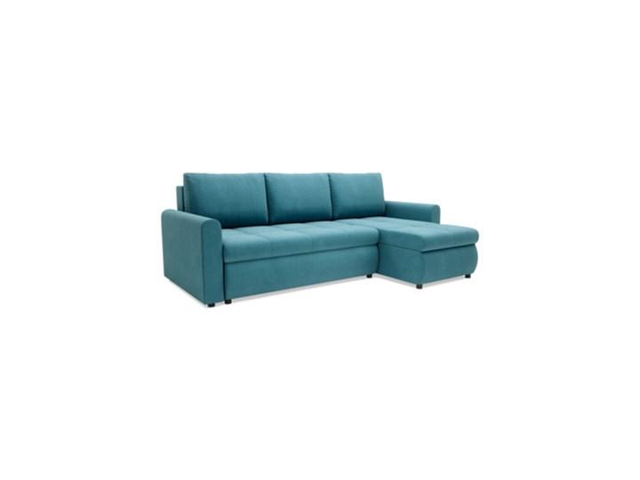 Salony Agata  Narożnik MUNA rozkładany   zielenie błękity Szerokość 226 cm Prawostronne Wysokość 85 cm Kolor Styl Klasyczny