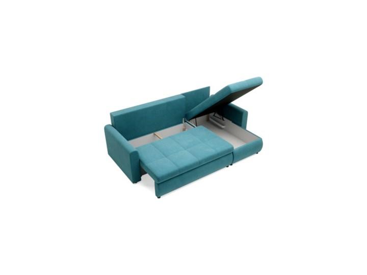 Salony Agata  Narożnik MUNA rozkładany   zielenie błękity Szerokość 226 cm Prawostronne Wysokość 85 cm Materiał obicia Welur