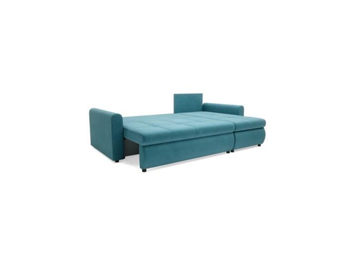 Salony Agata  Narożnik MUNA rozkładany   zielenie błękity Prawostronne Wysokość 85 cm Szerokość 226 cm Styl Klasyczny