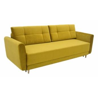 Sofa INA 3-osobowa, rozkładana   żółcie pomarańcze ŻÓŁTY_POMARAŃCZ    - Salony Agata