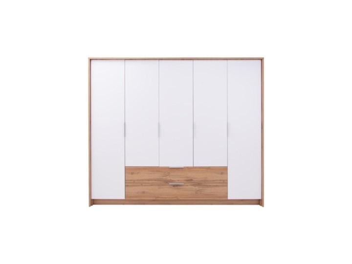 Salony Agata  Szafa VIENNA 5D Metal Wysokość 217 cm Lustro Drewno Głębokość 65 cm Szerokość 255 cm Kolor Beżowy