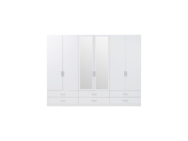 Salony Agata  Szafa ASUMPTA 4D2DS6S Kolor Biały