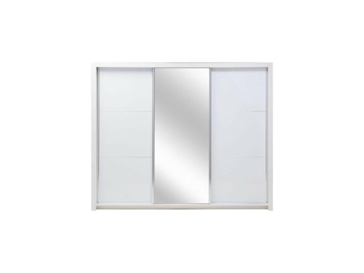 Salony Agata  Szafa SIENA 3D TYP 12 z oświetleniem Płyta laminowana Rodzaj drzwi Przesuwne Płyta MDF Tworzywo sztuczne Pomieszczenie Garderoba