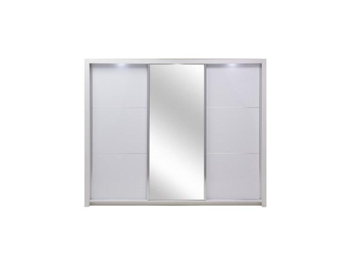 Salony Agata  Szafa SIENA 3D TYP 12 z oświetleniem Płyta laminowana Pomieszczenie Garderoba Płyta MDF Tworzywo sztuczne Ilość drzwi Trzydrzwiowe