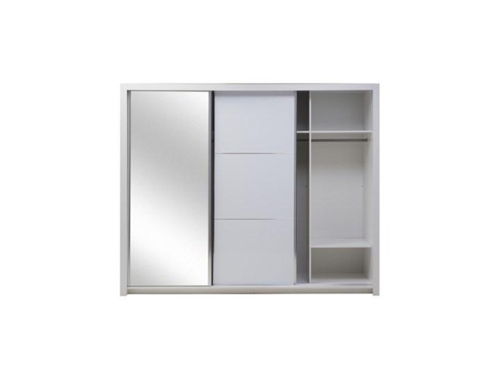 Salony Agata  Szafa SIENA 3D TYP 12 z oświetleniem Płyta laminowana Płyta MDF Tworzywo sztuczne Pomieszczenie Garderoba