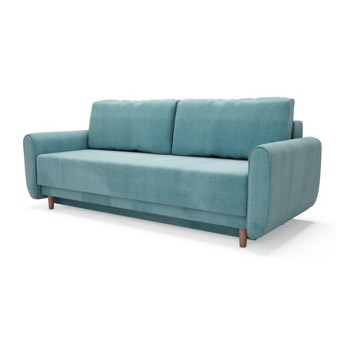Sofa DINARO 3-osobowa, rozkładana   zielenie błękity    Salony Agata
