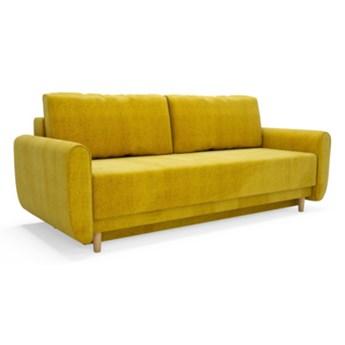 Sofa DINARO 3-osobowa, rozkładana   żółcie pomarańcze     - Salony Agata