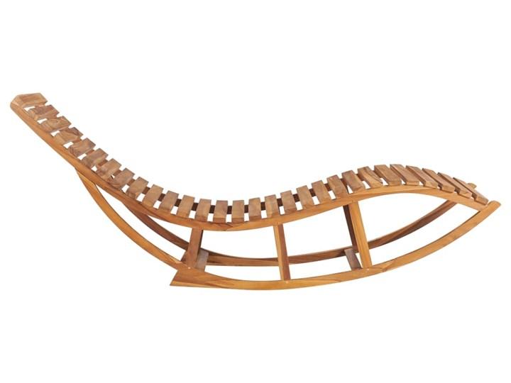 vidaXL Leżak bujany z poduszką, lite drewno tekowe Bujane Leżanki Kategoria Leżaki ogrodowe