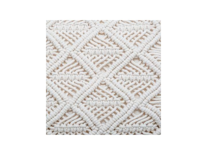 Poduszka dekoracyjna z frędzlami MACRAME, 30 x 50 cm, beżowa 30x50 cm Kategoria Poduszki i poszewki dekoracyjne Kolor Biały