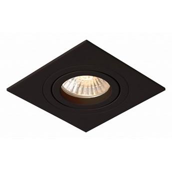 Metis 1  oprawa wpuszczana 1 x 50W GU10 kwadratowa czarna prosta płaska minimalistyczna oczko Light Prestige LP-2780/1RS BK