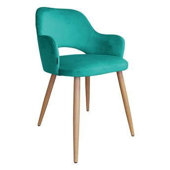 Marine upholstered chair STAR MG-20 material with an oak leg
