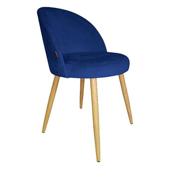 Navy blue upholstered CENTAUR chair in MG-16 material with oak leg