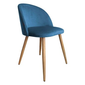 Chair KALIPSO blue MG-33 material with oak leg
