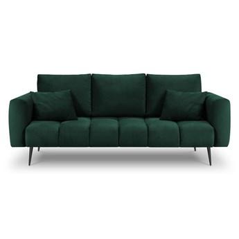 Ciemnozielona sofa z aksamitnym obiciem Interieurs 86 Octave