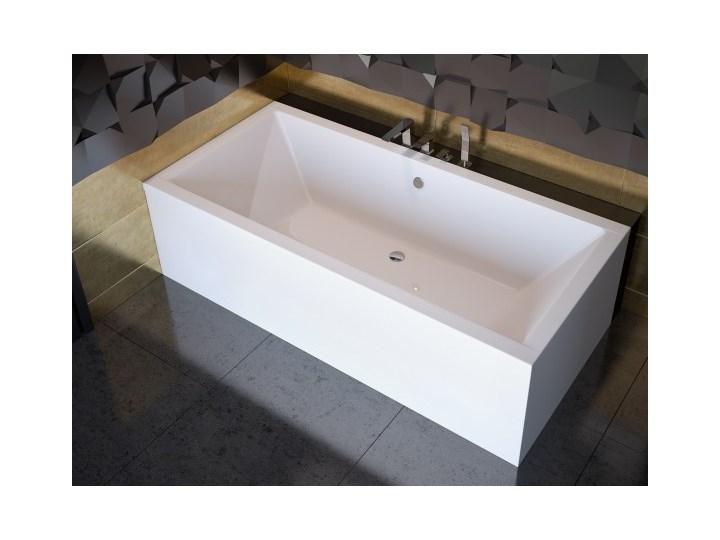 Wanna prostokątna Quadro, 155x70 cm, biała Kategoria Wanny