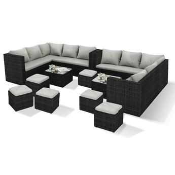 Wygodne meble ogrodowe - podwójny zestaw NEW YORK (2X1162S) - czarny