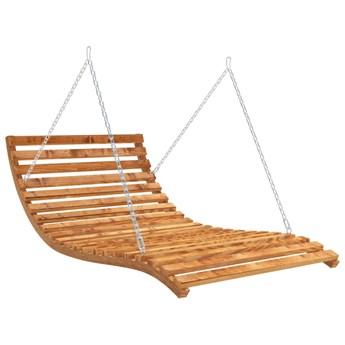 vidaXL Leżanka podwieszana, gięte drewno w kolorze teku, 143x120x65 cm