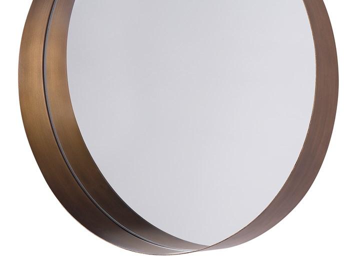 Lustro ścienne wiszące kolor miedzi 40 cm salon sypialnia Styl Vintage Okrągłe Pomieszczenie Garderoba