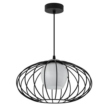 Czarna loftowa lampa wisząca druciana - EXX81-Laures