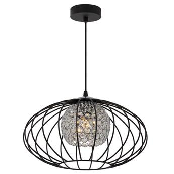Czarna druciana lampa wisząca z kryształkami - EXX82-Carmes