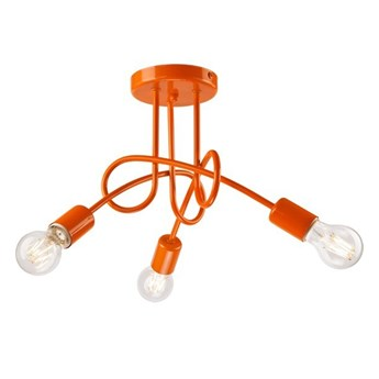 Camilla lampa sufitowa 3-punktowa supełek orange