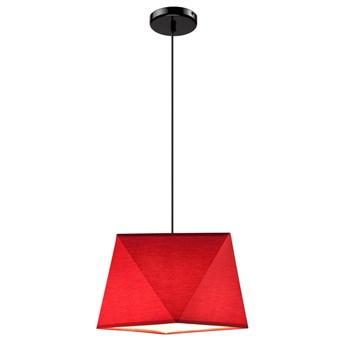 CARLA lampa wisząca 1-punktowa diament czerwona