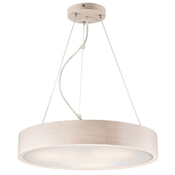 Lampa wisząca 3-punktowy plafon RING-EVELINA 47 biała sosna