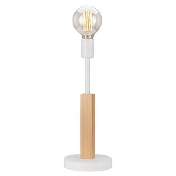 ORAZIO lampa stołowa biała - naturalny buk