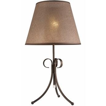 LORENZO lampa stołowa z abażurem brązowa