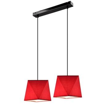 CARLA lampa wisząca 2-punktowa diament czerwona