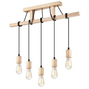 LEON lampa wisząca 5-punktowa naturalny buk