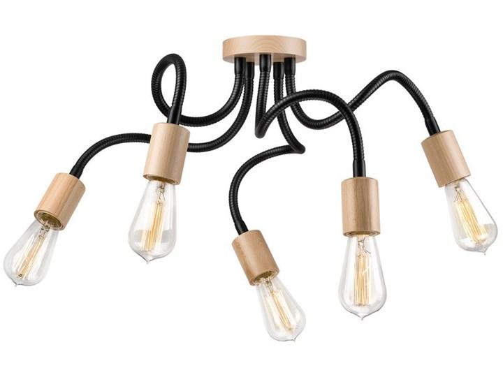 CAMERON lampa sufitowa 5-punktowa buk Styl Nowoczesny Metal Drewno Lampa pająk Styl Skandynawski