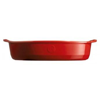Owalne naczynie do zapiekania - 35x22,5 - czerwony kod: EH349052